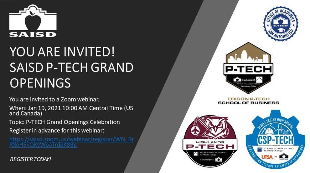 P-TECH invite