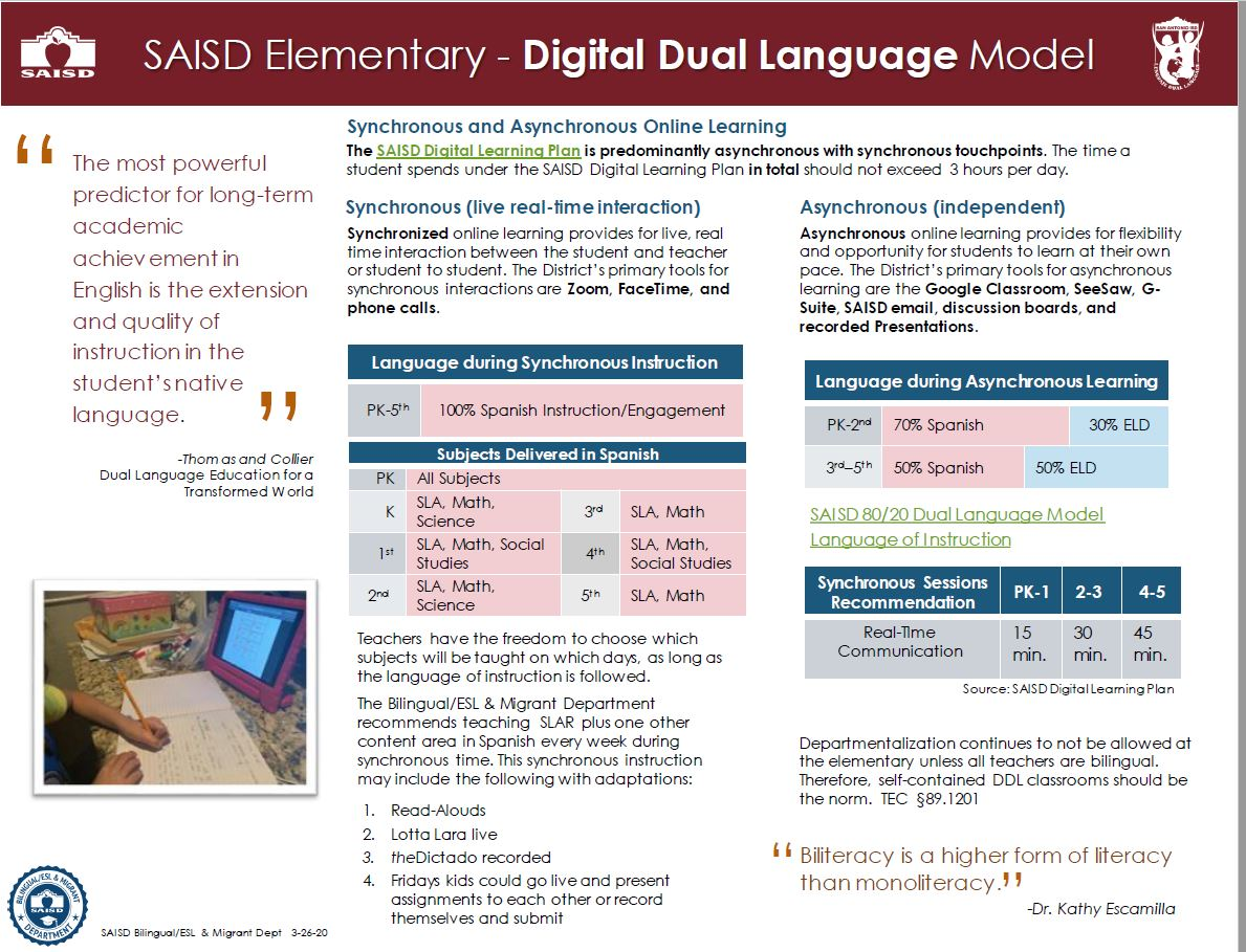 Digital Dual Language Model - Elementary