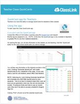 Generating ClassLink QuickCards